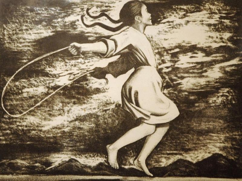Girl Jumping Rope, 1958, by Elizabeth Catlett