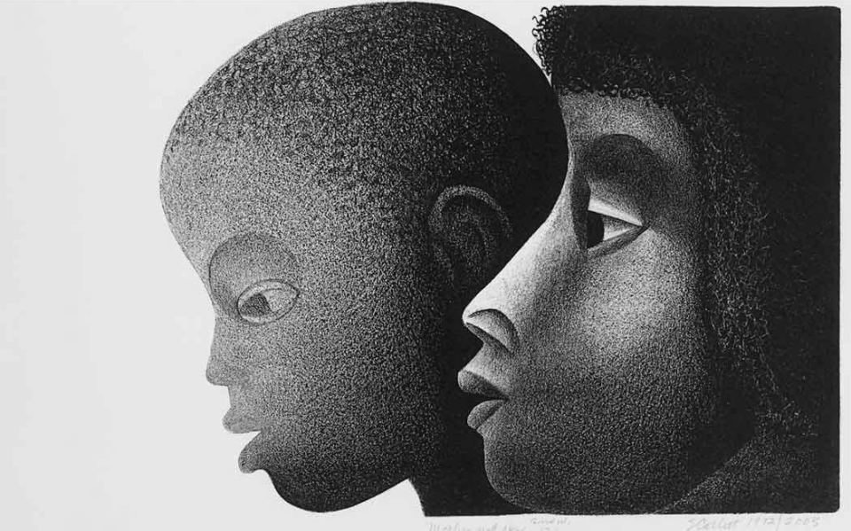 Mother and Son, 1971, by Elizabeth Catlett